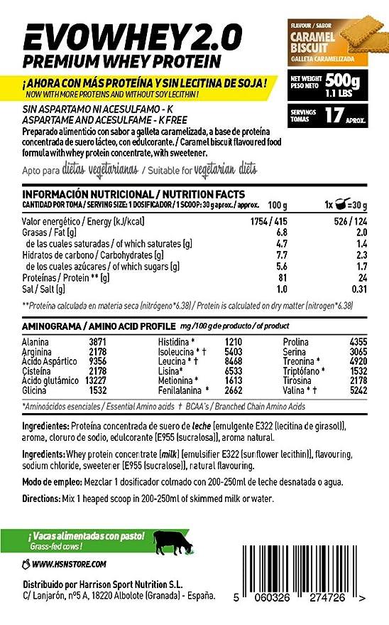 Whey Protein Concentrate (WPC) de HSN Sports - Concentrado de Proteína de Suero Evowhey 2.0 - Sabor Frutas del Bosque - 2000 gr: Amazon.es: Salud y cuidado ...