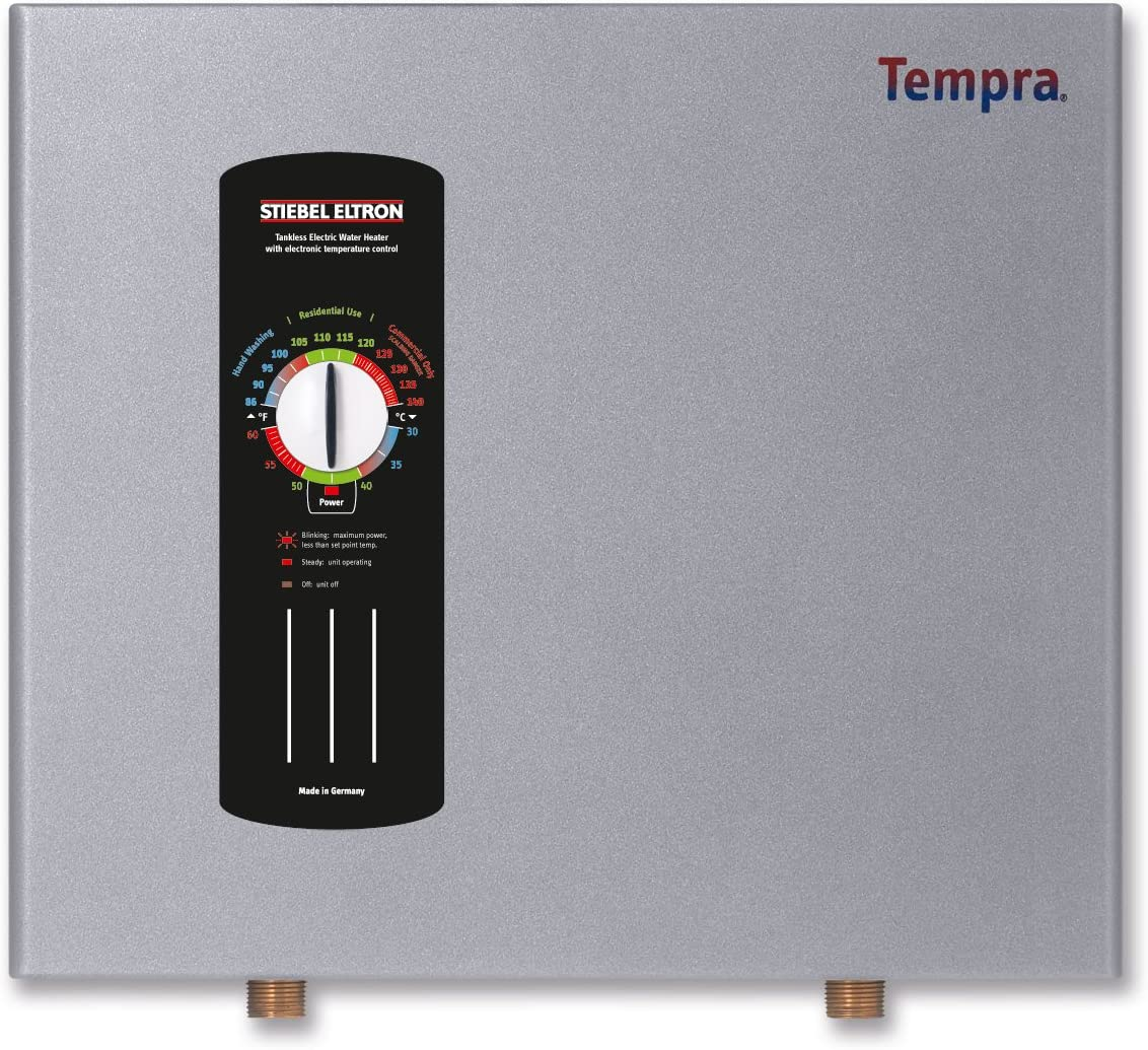 Stiebel Eltron TEMPRA36B Electric Tankless Water Heater, 36B 240 208V, 36 kW