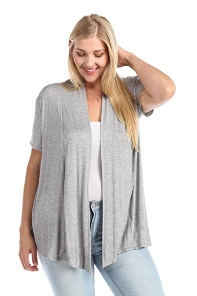 Zenana Women's Short Sleeve Open Front Cardigan at Amazon Women's ...