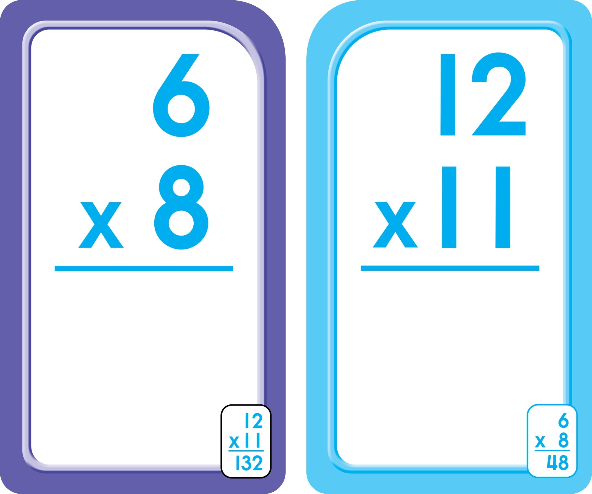 School Zone - Multiplication 0-12 Flash Cards, Ages 8+, Grades 3-4 ...