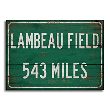 Ruskin352 Personalized highwayroad Distance Sign to Lambeau Field Home of  The Green Bay Packers Print on 3d9042887