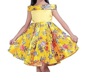 Vestido Elegante De Ceremonia Boda Fiesta Princesa Vestido De Gala Para Niña - Amarillo - 130CM