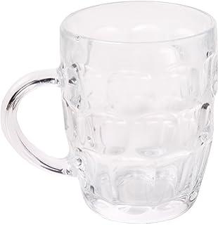 Bar@Drinkstuff - El hoyuelo británico gran taza - pack de 4 | hoyuelo tazas, jarras de cerveza, jarras de cerveza, hoyuelo tazas, jarra de vidrio | jarras de cerveza cristal tradicional |