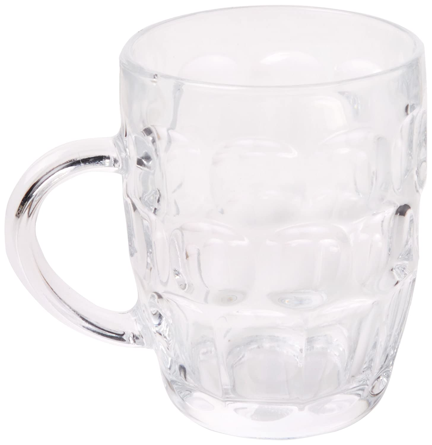 Arcoroc Britannia Traditional Beer Pint Tankards Dimpled Beer Stein Mug Glass 19.70oz / 560ml Set of 4 Arc International Others