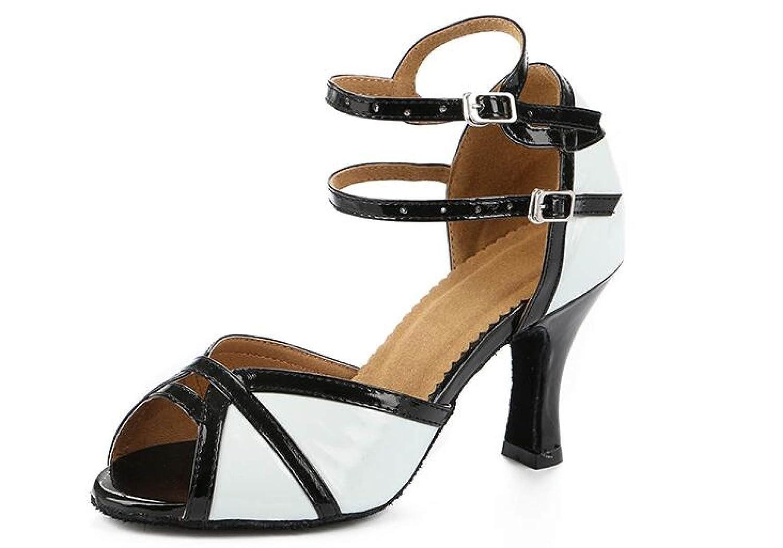 Blancheeled7.5cm Jchaussures Sexy Salsa Jazz Dance Chaussures Ballroom Latin Tango Party Danse Chaussures Talons Hauts,blancheeled7.5CM-UK4.5 EU36 Our37 UK3.5 EU34 Our35
