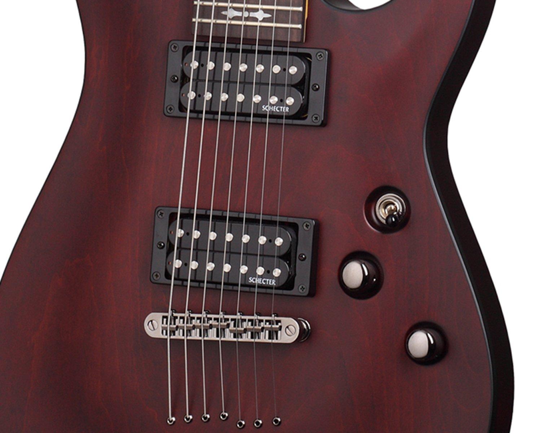 Guitarras eléctricas Schecter omen-7 Walnut Satin 7 cuerdas: Amazon.es: Instrumentos musicales