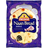 Mission Foods Garlic Naan Bread 4 Pack