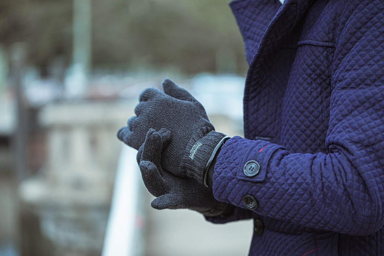 AKAROA ESTD 2019 Strickhandschuhe Ray Merino gef/üttert mit 3M 100g Thinsulatefutter und 50/% Baumwolle touchscreenf/ähiger Herren-Winterhandschuh aus 50/% Wolle