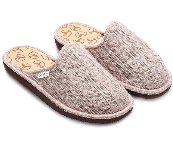 ESTRO Pantofole Donna Ciabatte Lana Donna Casa Pantofola Ciabatta Suola di  Memoria Cute  Amazon.it  Scarpe e borse 314e58f2eee