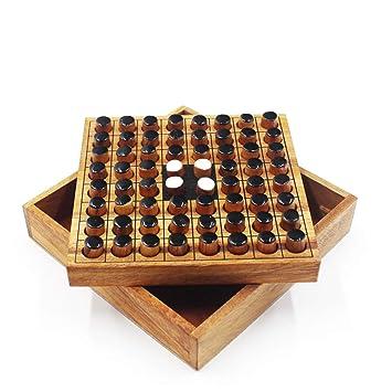 Aaibab - Juego de Mesa de ajedrez para niños (Hecho a Mano, Madera ...