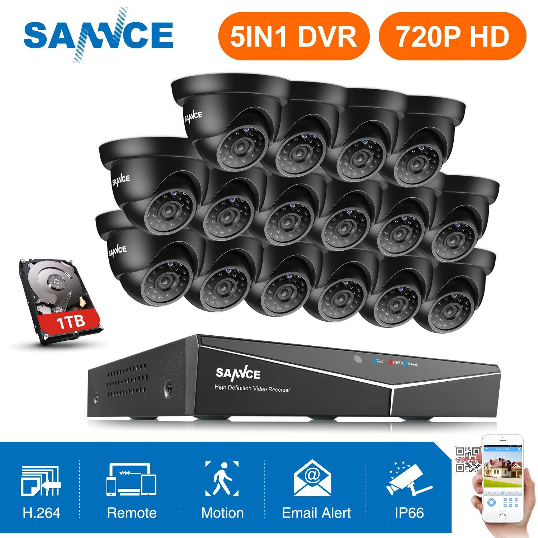 SANNCE 8CH 1080N Enregistreur Vidéo Numérique H.264 HDMI DVR CCTV Système de Sécurité Support Audio Enregistrement Contrôle Motion Detection de Mouvement Email Alarme SE-DH81NK000#FR1
