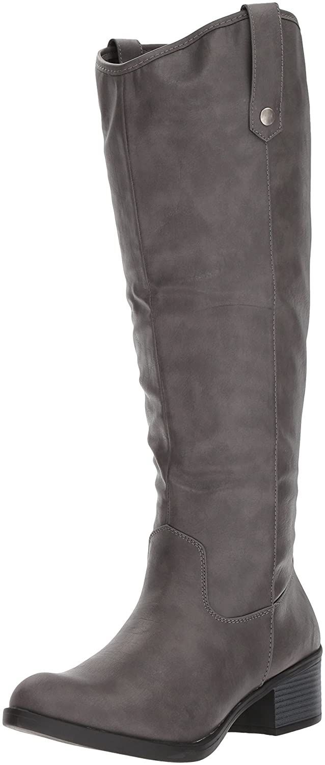 Rampage Women's Italie Riding Knee High Boot B076HBM9XM 6 B(M) US|Grey Burnished