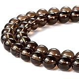 天然圆形半珍贵宝石松散石珠用于珠宝制作手链项链 烟晶 6mm roundbeads001