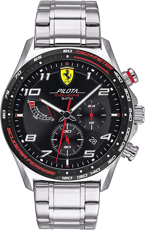 Scuderia Ferrari Reloj para de Cuarzo con Correa en Acero Inoxidable 830720