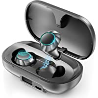 PeohZarr Bluetooth 5.0 IPX8 Earbuds With 2600mAh Charging Case