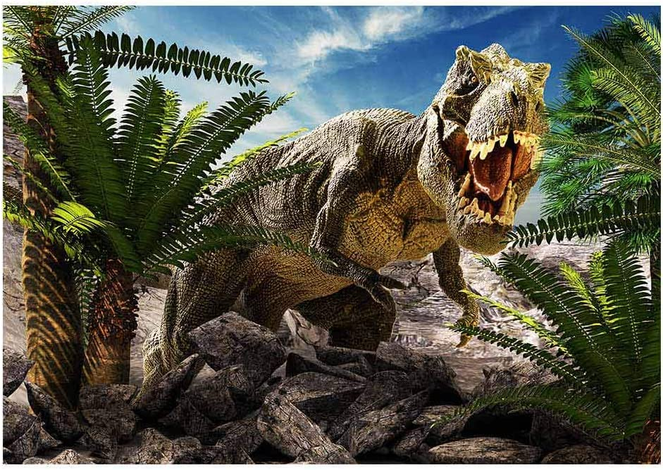 New Dinosaur Background FHZON 7x5ft Ancient Animal Background Forest Waterfall Lake Mountain Background for Photography Outdoor Style Theme Party Photo Booth Props 418