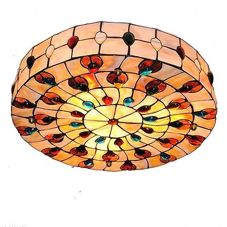 Lámpara de techo moderno simple Tiffany lámpara de techo ...