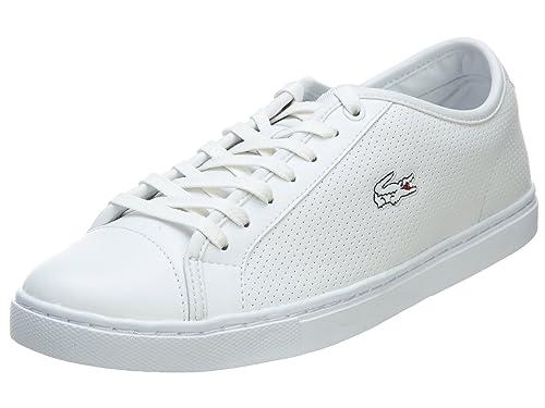 4f0ea3a6a Lacoste Show Court Ctr Spm Leather Mens White 7 D(M) US  Amazon.in  Shoes    Handbags