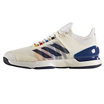 55d98fd67 adidas x Pharrell Williams Men Adizero Ubersonic 2 white chalk white dark  blue scarlet Size 6.5