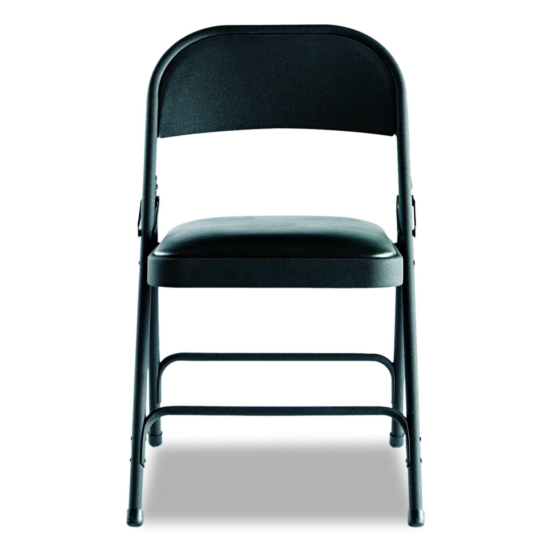 amazon com alefc94vy10b steel folding chair w padded seat 4