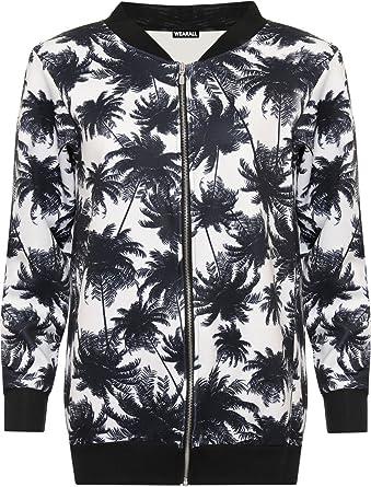 ea41ac467 H&F GIRL Ladies Women Multicolour Zipped Zip Up Floral Plain Mesh ...