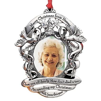 merry christmas from heaven photo ornament loved ones tree decoration non personalized