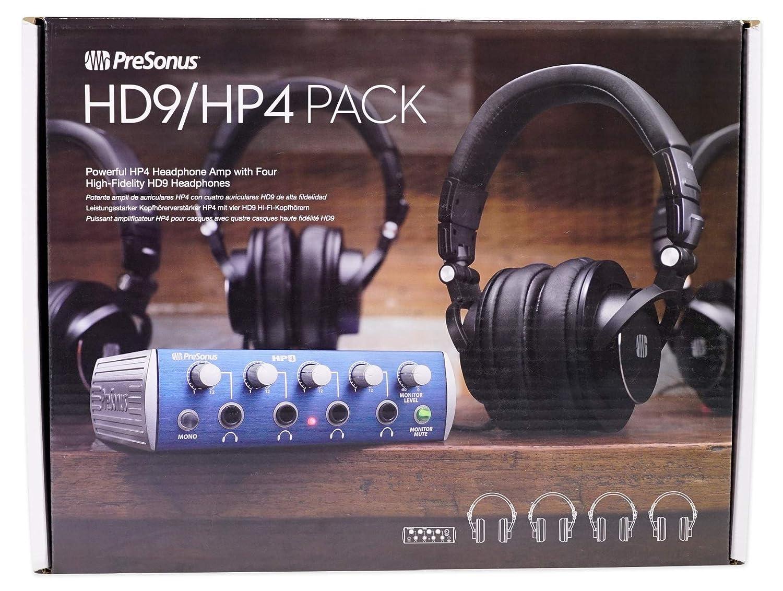 8a6a4ac97bc Amazon.com: PRESONUS HP4 Headphone Amplifie+(4) HD9 Studio Headphones+Snowball  Studio Mic: Home Audio & Theater