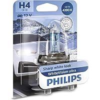 Philips 12342WVUB1 WhiteVision Ultra Xenon effect H4 koplamp, 4.200K, enkele blister