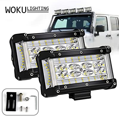 Side Shooter LED Lights, Woku 2pcs 5.5 inch LED Pods Off Road Driving Fog Light Waterproof LED Cubes Spot Flood Combo Work Lights for Truck Jeep ATV UTV Motorcycle Boat, 3 Year Warranty: Automotive