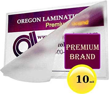 Amazon Com 10 Mil Business Card Laminating Pouches Qty 100 Hot 2 1 4 X 3 3 4 Paper Reinforcements Office Products