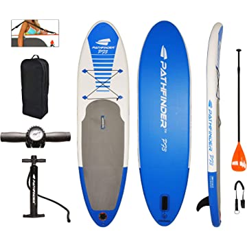powerful PathFinder Inflatable SUP Stand Up Paddleboard Set 9' 9