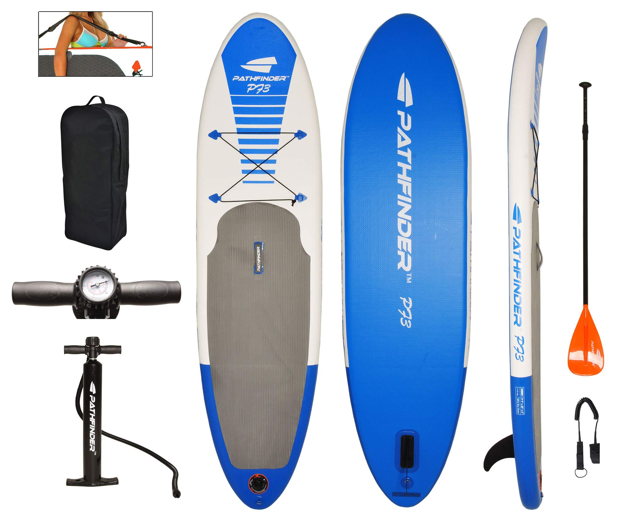 PathFinder Inflatable SUP Stand Up Paddleboard Set 9' 9'' (5'' Thick) by Pathfinder