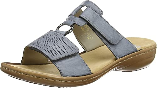 Rieker Eagle Shoes Womens Antistress Mules Sandals CASUAL