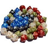 50 10-Sided Dice | 5 x 10 D10