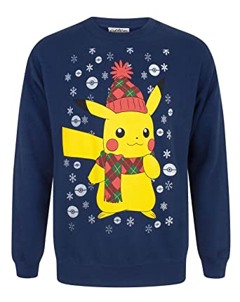 Vanilla Underground Pokemon Pikachu Mens Christmas Sweater ...