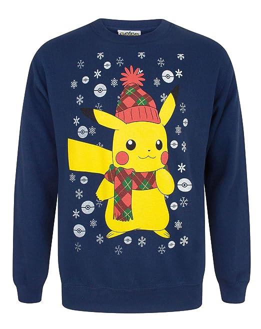 Vanilla Underground Pokemon Pikachu Mens Christmas Sweater