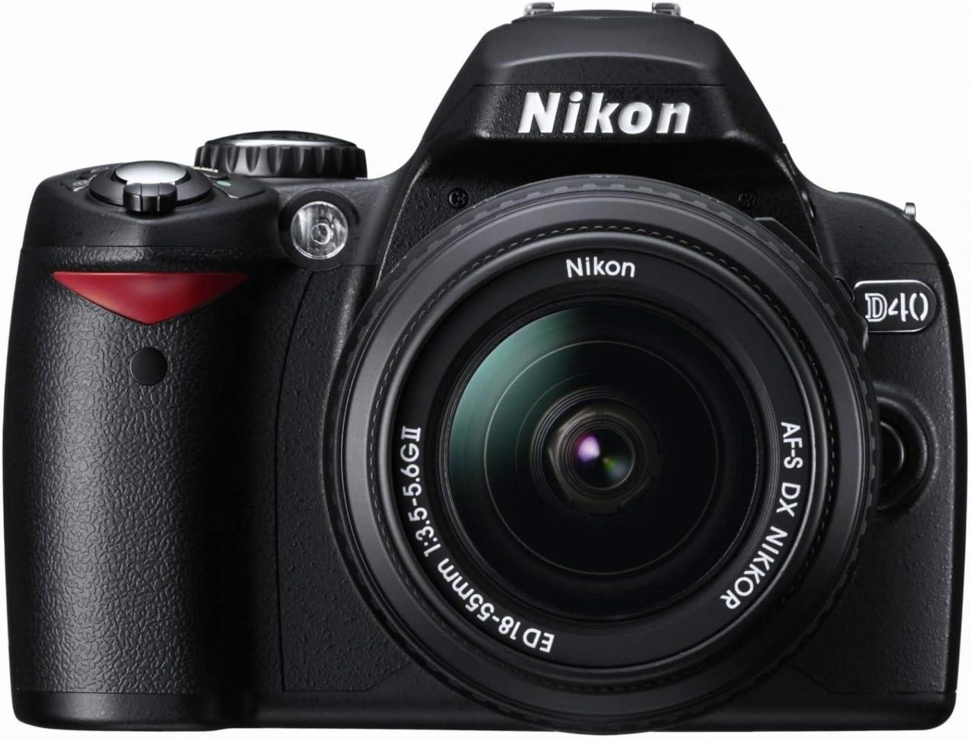 Nikon D40 - Cámara Réflex Digital 6.1 MP (Objetivo w/ 18-55mm ...