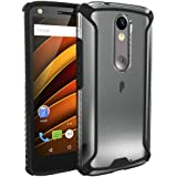 Moto Droid Turbo 2 Case, POETIC Affinity Series Premium Thin/No Bulk/Slim fit/Clear/Dual material Protective Bumper Case for Moto Droid Turbo 2 (2015) Black/Clear