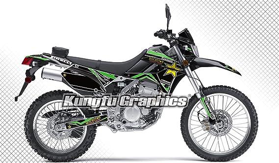 Kungfu Graphics Custom Decal Kit for Kawasaki KX250F KXF250 2009 2010 2011 2012 style 003 Black White Green