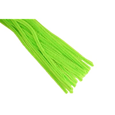 """12"""" Plain Apple Green Chenille (Pipe Cleaner) 6MM Stems Choose Package Amount (25): Health & Personal Care"""