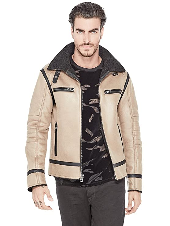 GUESS Men's Sierra Shearling Jacket