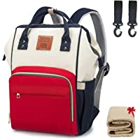 Balcony&Falcon Diaper Bag Backpack Baby Care Travel Back Pack for Mom/Dad Large with Multifunction Waterproof Nappy Bags…