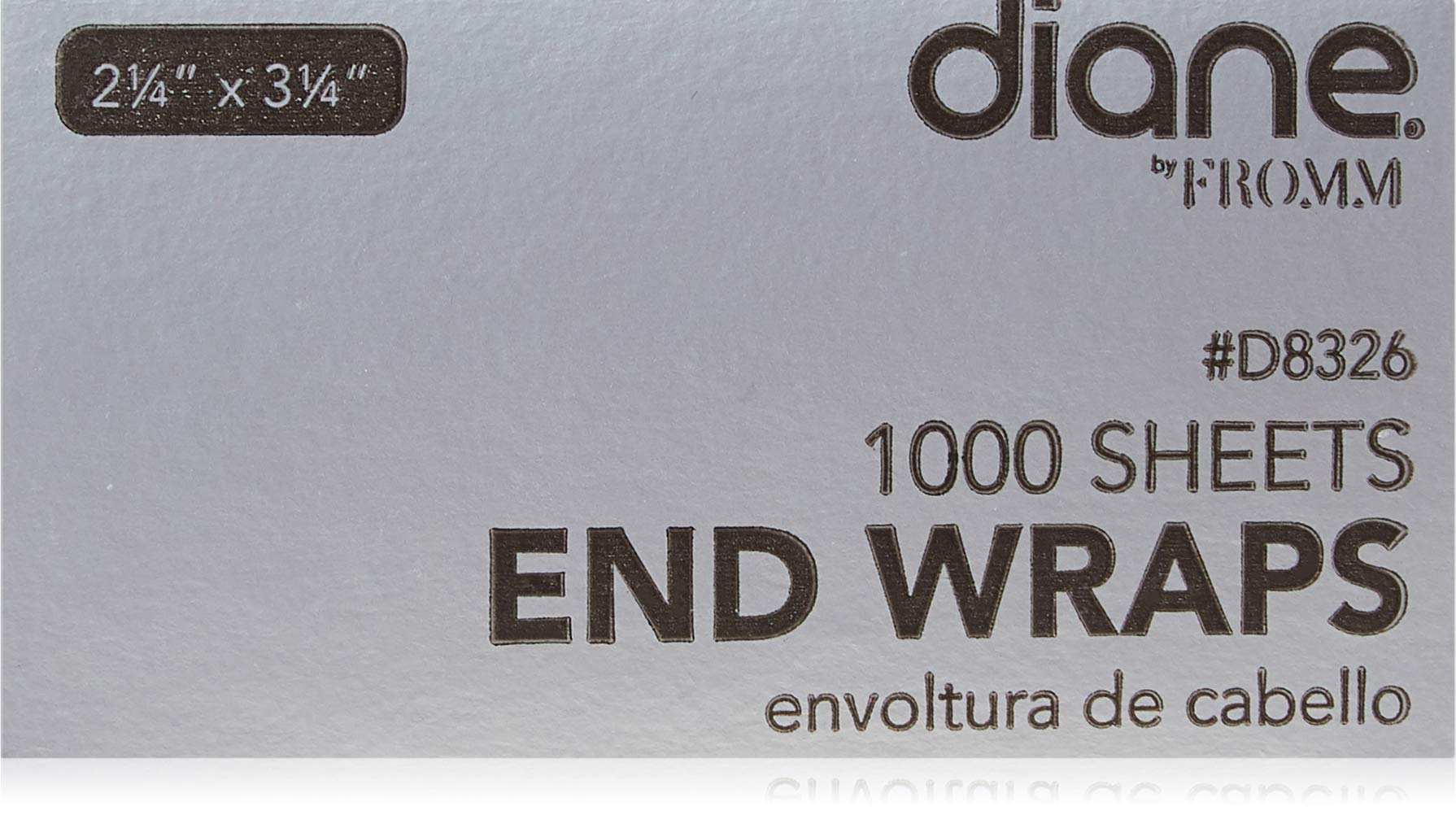 "Diane End Wraps – Pack of 1000 for Styling Hair in Salon or at Home – 2.25"" x 3.25"" – White – D8327"