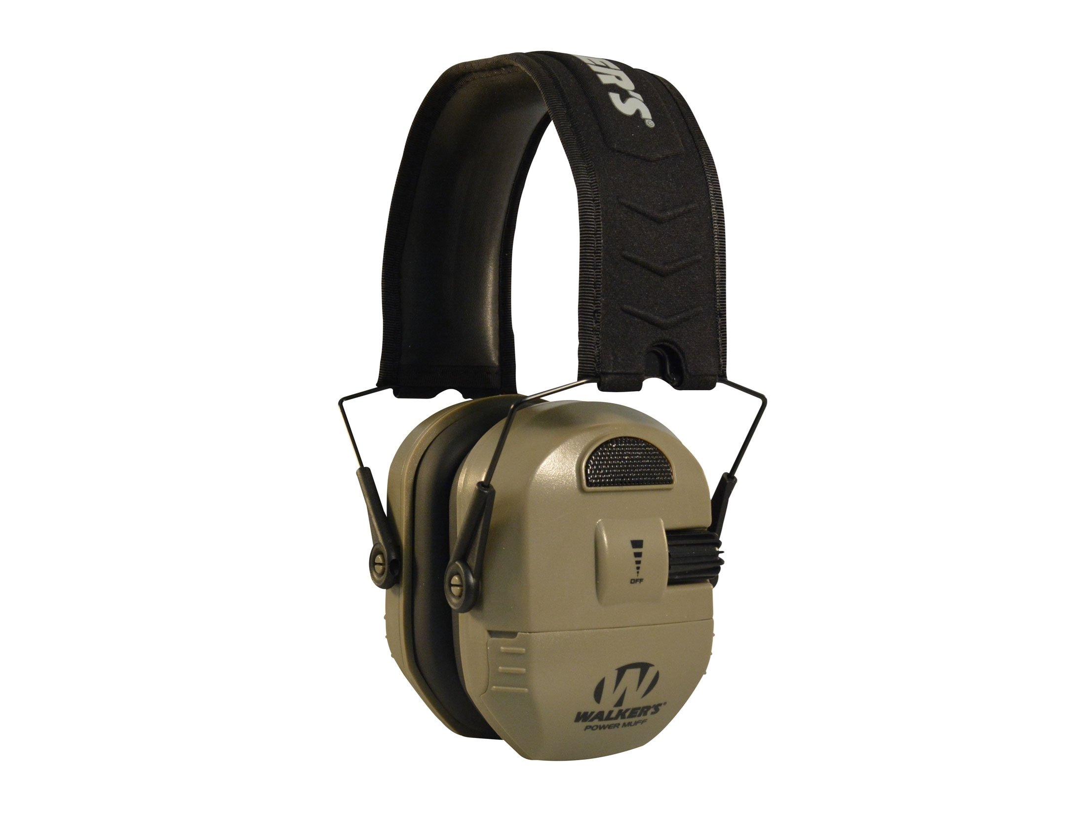 Walker's Ultimate Alpha Power Muff Electronic Earmuffs (NRR 26dB) Flat Dark.