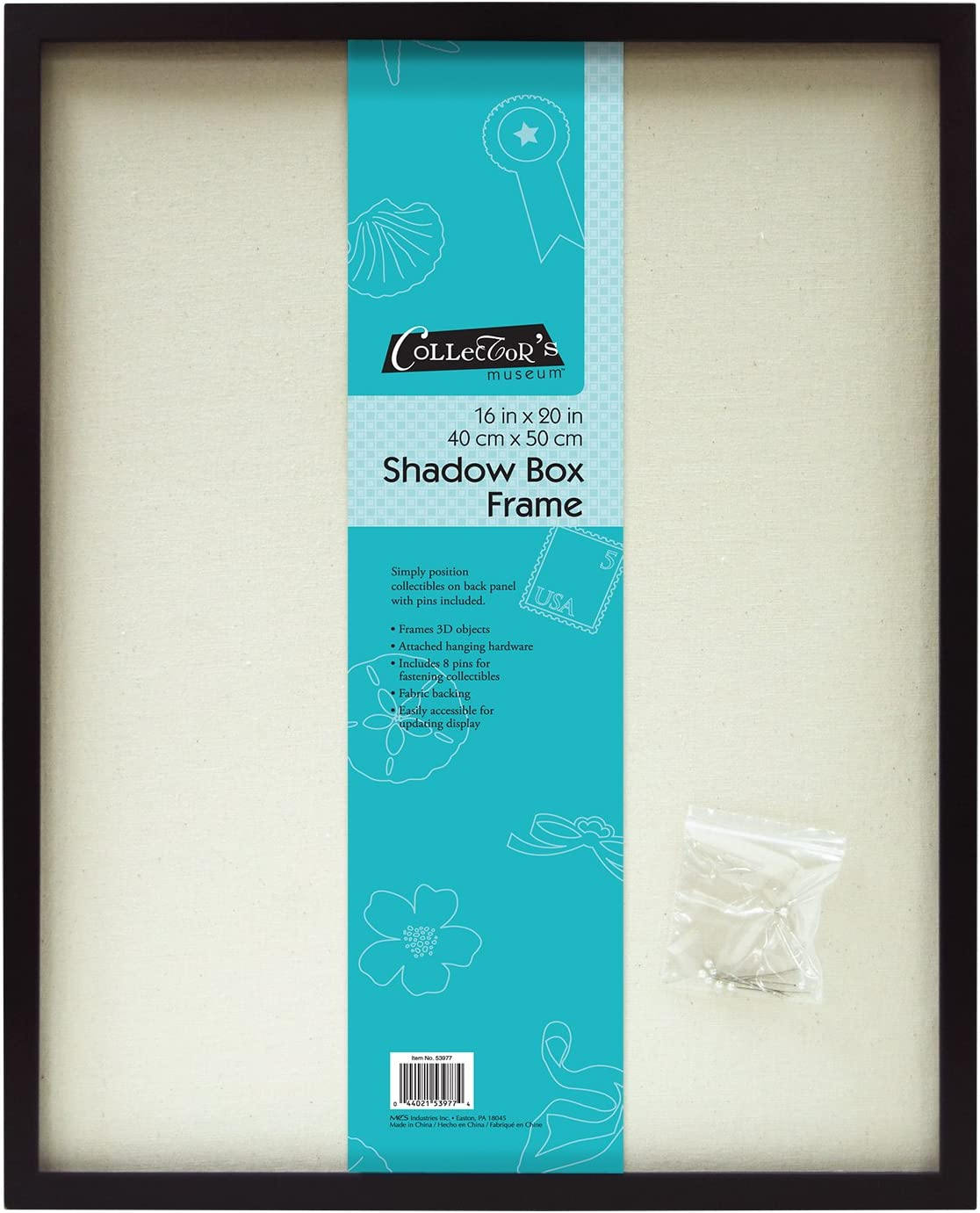 MCS 16x20 Inch Linen Lined Shadowbox, Black (40956)