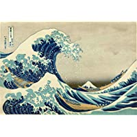 A Grande Onda de Kanagawa de Katsushika Hokusai - 60x88 - Tela Canvas Para Quadro