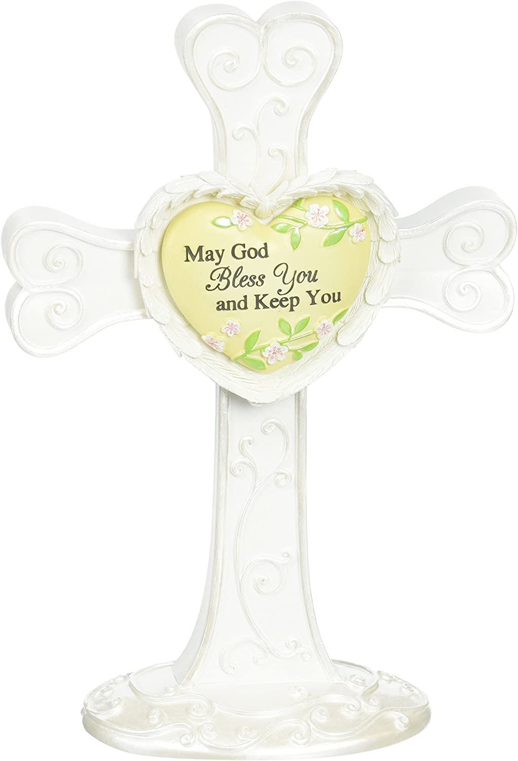 Heart Expressions by Pavilion Self Standing Cross, God Bless You Sentiment, 7-Inch Tall