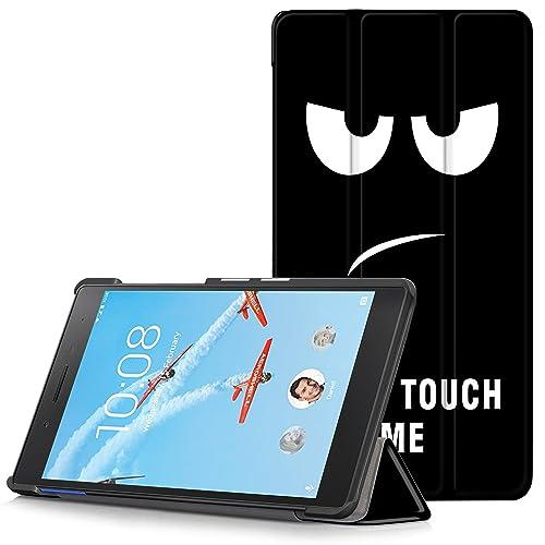 """Lenovo Tab 7 Essential Etui - Étui Housse Ultra Mince et Léger à Rabat avec Support pour Lenovo Tab 7 Essential Tablette Tactile 7"""" Modèle 2017, Grands Yeux (Non pour Lenovo Tab3 7 Essential)"""