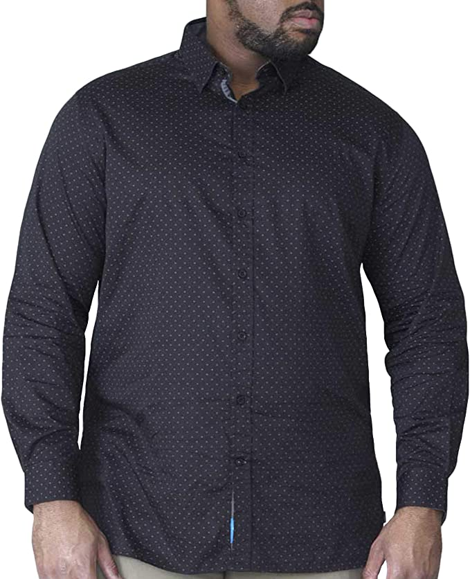 D555 Mens Kingsize Oxford Shirt Big Tall Cotton Long Sleeve Button Down Shirts