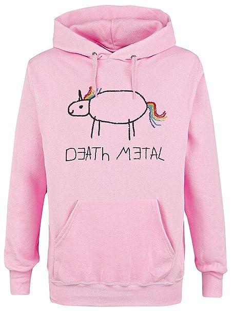 Death Metal Felpa donna rosa pallido: Amazon.it: Abbigliamento